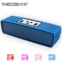 fast bluetooth transmit high end 2x3w Aluminum Bluetooth vibration Speaker for streaming pandora music wireless