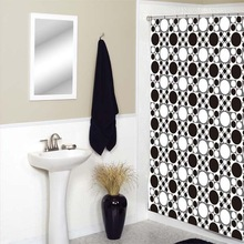 New Design Fashion of City Dots Printed Curtain PEVA Shower Curtain