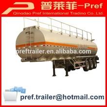 38000 liters 3 axles aluminum oil tank semi trailer for sale