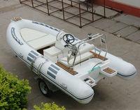 Rigid Inflatable Fiberglass Pontoon Boat