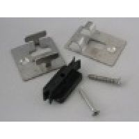 hidden stainless steel fasteners and clips for wood plastic composite decking