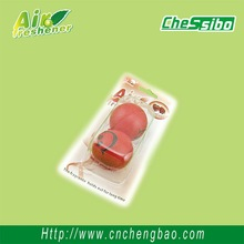 Small red PU ball shaped hanging car air freshener for decoration