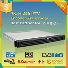 4K Multi-Screen HD H.264 IPTV Encoder for HTTP RTMP HLS MMS Flash