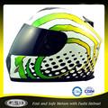 green design gráfico novo abs capacete da motocicleta da cara cheia