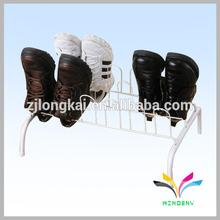 All metal made sport dustproof shabby chic shoe rack