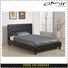 Living Room Furniture Modern Italian Leather Bed