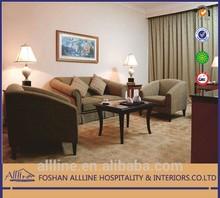 Saudi Arabia Ramada AL-st0108 elegant modern hotel furniture/living room solid wood fabric sofa furniture/sofa set