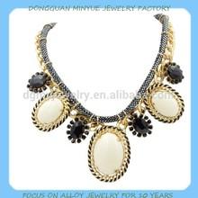 wholesale white stone necklace 2015 trendy fashion jewellery