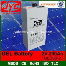 2v 200ah battery gel battery 200ah maintenance free battery for ups