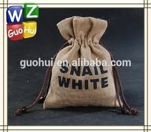 Jute / cotton /canvas drawstring bag, cute jute gift bag, jute draw string bag