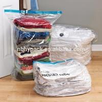 Clothing vacuum bag plastic bag with zipper