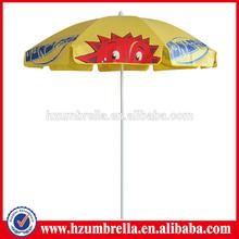 yellow pvc silk screen print hot weather big sun umbrella