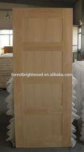 4 Panel Prefinished Single Wooden Door , Prefinished Interior Door