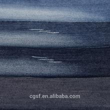 polyester cotton slub yarn denim fabric stone washed denim fabric,SF1021