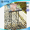 china wholesale home decoration wrought iron glass table