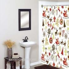 178 x183 New Design Curtains PEVA Christmas Shower Curtains