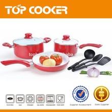 Pressed Aluminum 5pcs ceramic coating wholesale cookware
