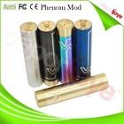 China wholesale electronic cigarette black/rainbow/brass/ss blue phenom mod 1:1 clone