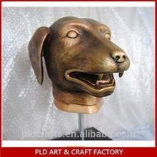 "18"" Polyresin Bronze Dog Statue/Copper Brozne Figurine"