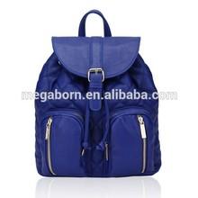 New Plaid Pattern Design Women Fashion Drawstring Leather Backpack
