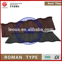 High quality metal roofing tile colorful stone coated metal roof tile aluminum roof tile