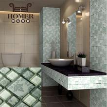 Glass mosaic, self adhesive glass tile