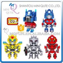 Mini Qute change robot super hero cartoon loz diamond nano block plastic building blocks educational toy 3d puzzle game NO.9402
