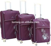 4 piece side purple flower eva travel trolley bag