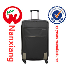 polyester material and spinner caster 2014 design luggage trolley