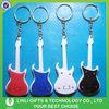 Rock star guitar led logo customize pocket keychain flashlight
