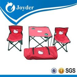 outdoor furniture folding table and chair with carry bag for kid