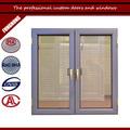 precio barato patrón horizontal doble swing imágenes de vidrio de aluminio de la ventana y la puerta
