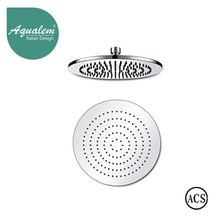 Aqualem Brass Wall Mounted Round Rain Shower Head With ACS Approved