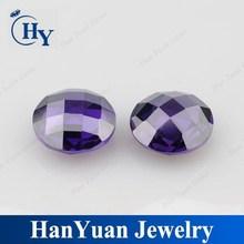 China aaa Round Checker Cut Synthetic Type Zircon