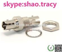 Simplex Singlemode Metal ST Fiber Optic Adaptor