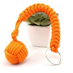 2015 Best Selling Survival self defense paracord monkey fist key chain