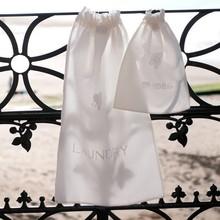 Varous Material, Emboridery Silk Satin Shoe Bag With Drawstring