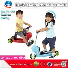 New Design Child Foot Scooter/Kick Scooter Two In One /Chilren tricycle scooter