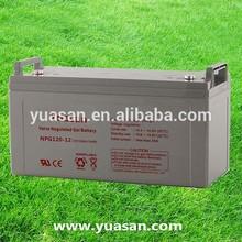 Yuasan Rechargeable Sealed Gel Lead Acid Solar Batteries--NPG120-12(12V120AH)