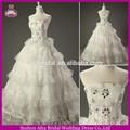sw1085 baratos feitos inchado bola vestido de rendas africano estilo de vestidos de noiva
