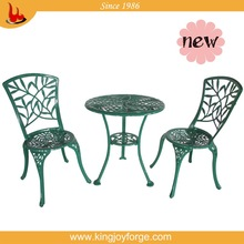 Popular garden 3 piece aluminum bistro side table and chair