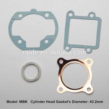 motorcycle gasket cylinder head gasket kits exhaust pipe gasket MBK