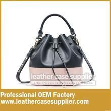 fashion winter ladies leather bucket handbag