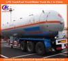 ASME standard 60000liters 3 axle LPG tanker semi-trailer