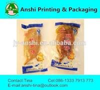 Custom clear plastic food packaging printed bags for seafood
