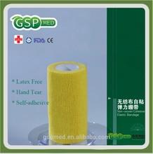 """"""" 4*4.5m mão lágrima não- tecido bandagem elástica coesiva produtos& látex livre"""