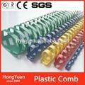 Oficina de enlace de los suministros de materiales de encuadernación de plástico 21 anillos de plástico peine peine vinculante,