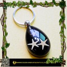 2015 Holiday Gift Classical Black Three Starfish Keyrings KO0903H01