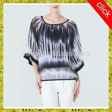 Fashion Ladies Women's Chiffon Tops Long Lantern Sleeve Shirt Casual Blouse