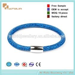 Beige Snake Chain single wrap Leather Wrist Bracelet Fits